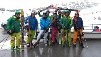 Skitest 2014 Retenbachgletscher Sölden
